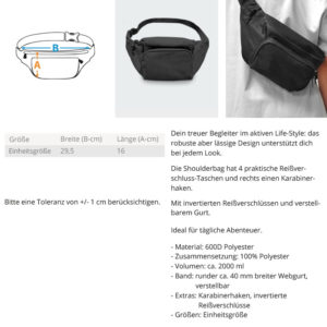 Hipbag  – Shoulderbag mit Stick